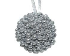 Kaemingk Set 12 ks vánočních ozdob, 8 cm, stříbrné