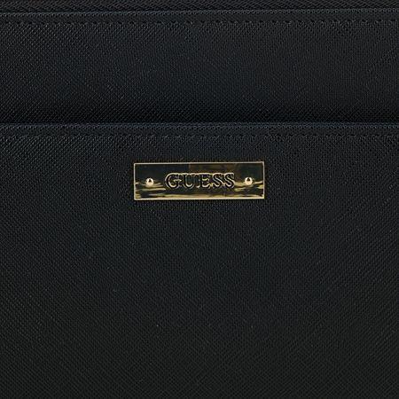 Guess Listová kabelka Avery Wristlet Čierne - Parametre  6a19266fdbf