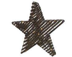 """Kaemingk LED fény dekoráció """"Csillag"""", 30 x LED, barna rattan"""