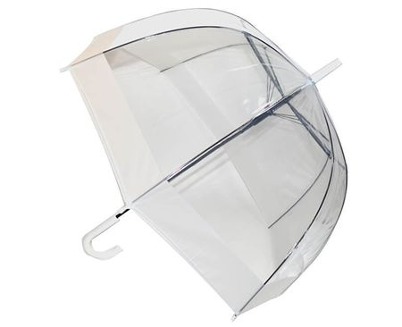 Blooming Brollies Dámský průhledný holový deštník Clear Domes EDSCDW