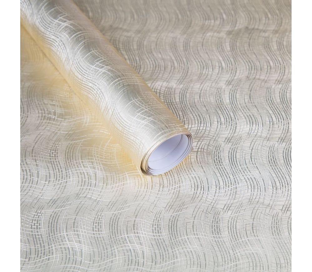 Giftisimo Luxusní strukturovaný balicí papír, zlatý, vzor vlnky, 5 archů