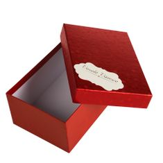Giftisimo Box Hana 1 červené komety 18x12,5x8 cm se jmenovkou a hedvábným papírem