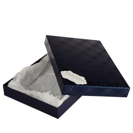 Giftisimo Box Ilona II. 2 tmavě modrá kára 30,5x21x4 cm se jmenovkou a hedvábným papírem