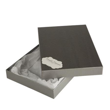 Giftisimo Box Ilona II. 2 stříbrný natur 30,5x21x4 cm se jmenovkou a hedvábným papírem