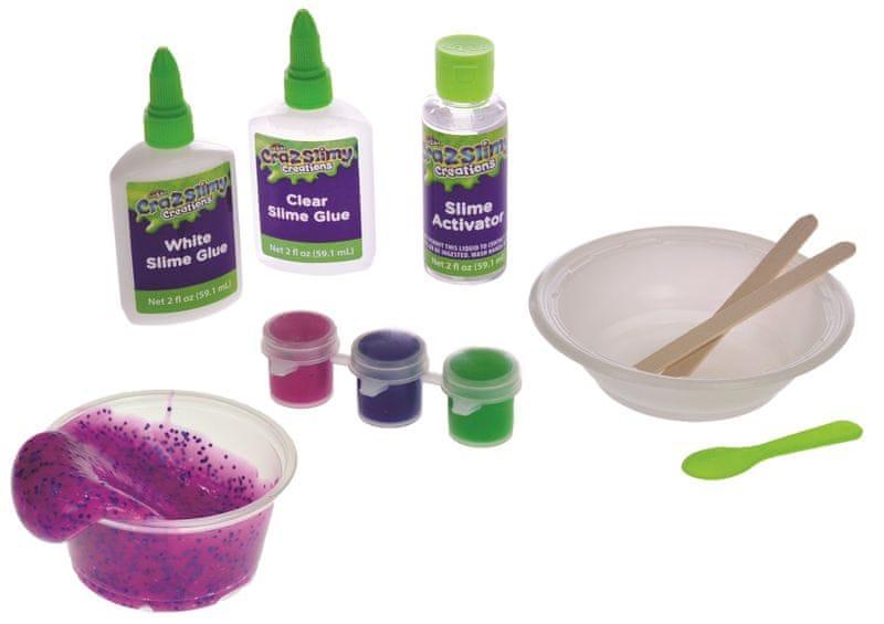 Mikro hračky Sada na výrobu slizu Cra-z-slimy neon+glitry