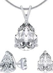 Silvego Strieborný set šperkov s čírym krištáľom JJJS8888 striebro 925/1000