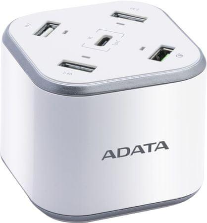 A-Data ładowarka do urządzeń mobilnych USB Charging Station ACU0480QCPS-CEUWH