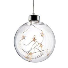 Solight 10 LED vánoční koule skleněná