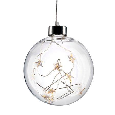 Solight 10 LED üveg karácsonyi gömbök