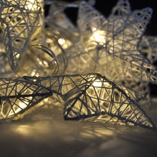 Solight 10 LED vánoční hvězdy pletené