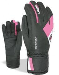 LEVEL otroške rokavice Force, XXL, črno roza