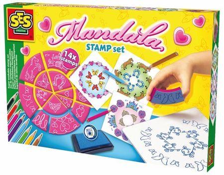 SES ustvarjanje s štamplijkami Mandala