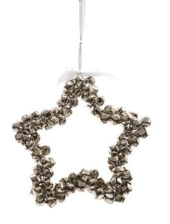 Kaemingk dekoracja świąteczna Gwiazda z dzwoneczkami