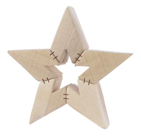 Kaemingk Vánoční dekorace hvězda - dřevěná
