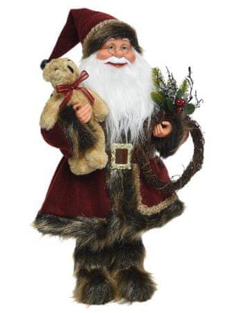 Kaemingk dekoracja świąteczna Święty Mikołaj z pluszowym misiem