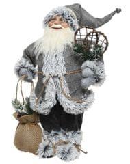 Kaemingk Vánoční dekorace Santa se sněžnicemi