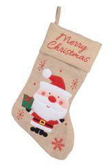 """Kaemingk Vánoční punčocha """"Santa"""" - béžová"""