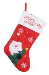 """Kaemingk Vánoční punčocha """"Santa"""" - červená"""