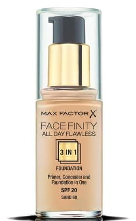 Max Factor tekući puder Facefinity 3 in 1 All Day Flawless, 60 Sand, 30 ml