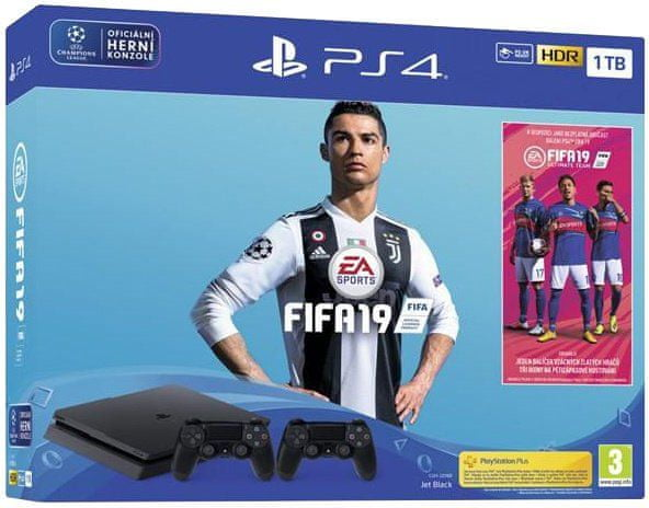 Sony Playstation 4 Slim - 1TB + FIFA 19 + DualShock 4 v2