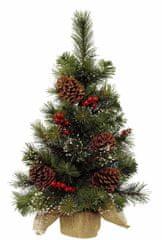 Kaemingk Mini vánoční stromeček s šiškami a bobulemi, 40x60 cm