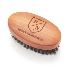 Percy Nobleman Szczotka z pereł z drewna i szczotka z dzika