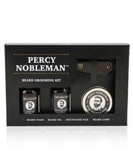 Percy Nobleman Darčeková sada starostlivosť o fúzy a fúzy (Beard Grooming Kit)