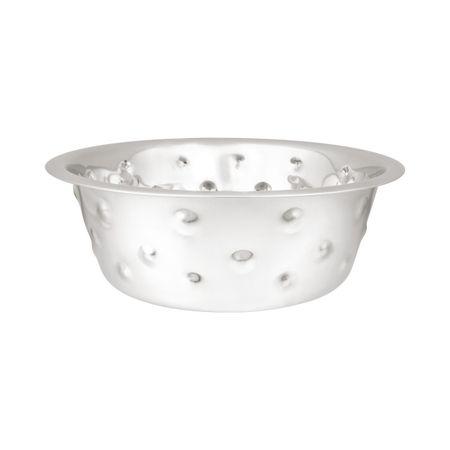 Huhubamboo Nerezová miska Bubble - stříbrná 5650ml