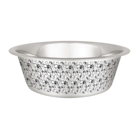 Huhubamboo Nerezová miska - stříbrná s rytinou komára 2260ml