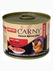 Animonda Carny konzerva pro kočky hovězí+krůtí srdce 200g