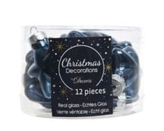Kaemingk Set 12ks vánočních ozdob MINI HVĚZDIČKY, noční modré