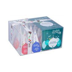 English Tea Shop Dárková vánoční krabička Zelené ozdoby BIO 12 pyramidek