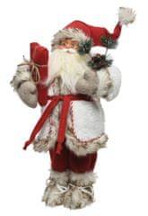 Kaemingk Karácsonyi dekoráció Santa ajándékkal 16x9x30 cm
