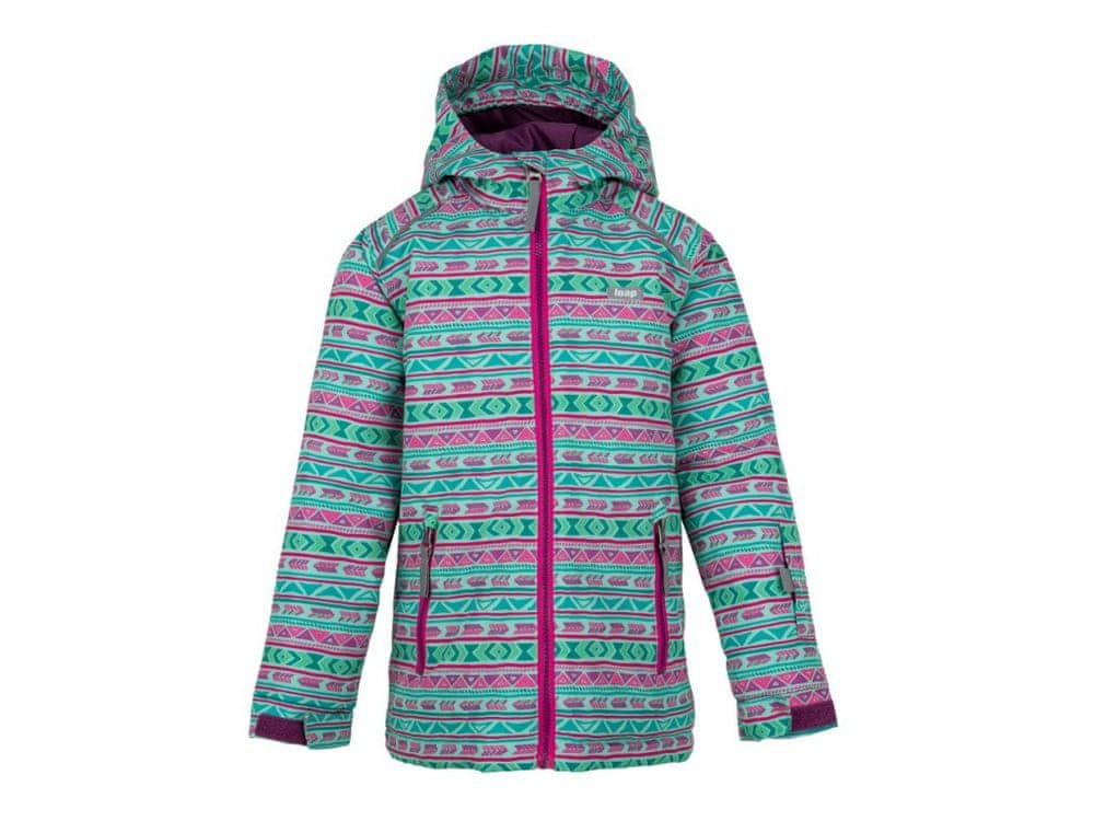 Loap dětská lyžařská bunda Centus 122/128 zelená