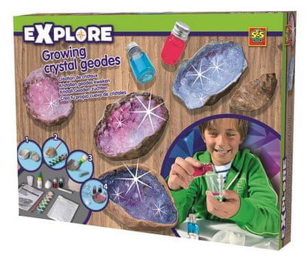 SES set za pridelovanje kristalnih geodov