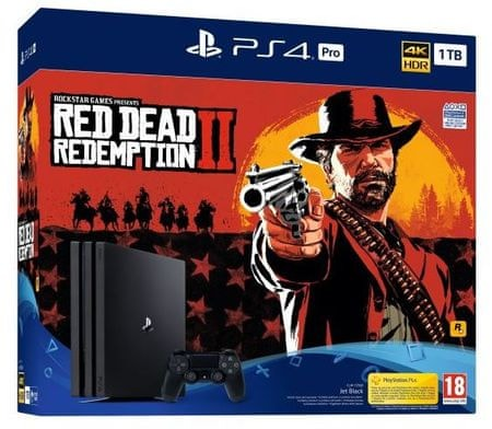 Sony igralna konzola PlayStation 4 Pro 1 TB + igra Red Dead Redemption 2
