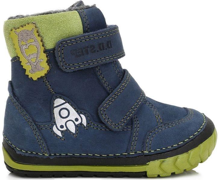 D-D-step chlapecké zimní boty s raketou 19 modrá 8fef14ca5e