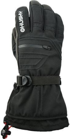 Husky moške smučarske rokavice Erase, M, črne