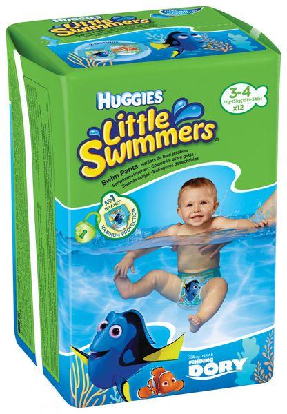 Huggies plenky Little Swimmers 7 - 15 kg/12 ks
