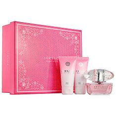 Versace Bright Crystal, EDT toaletna voda, 50 ml + mleko za telo, 50 ml + gel za tuširanje, 50 ml