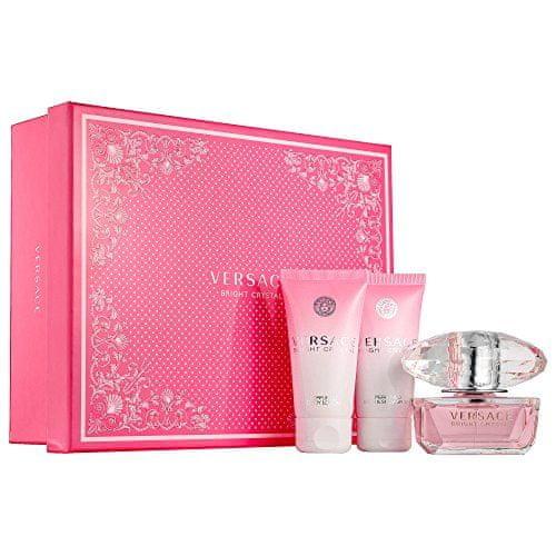 Versace poklon set Bright Crystal - losion 50 ml + EDT 50 ml + gel za tuširanje 50 ml