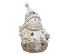 """Kaemingk Vánoční svícen """"Sněhulák"""", 43cm"""
