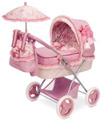 DeCuevas zložljiv otroški voziček za lutko dojenčka z dežnikom Martina M