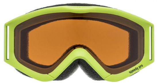 Uvex dziecięce gogle narciarskie SPEEDY PRO lightgreen sl/pc/gold (7030)