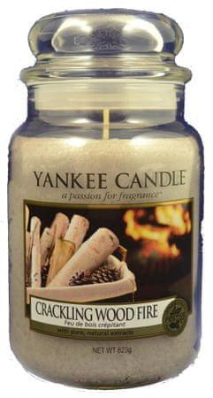Yankee Candle Classic velika sveča Crackling Wood Fire, 623 g