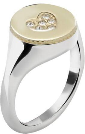 Morellato Ocelový bicolor prsten Monetine SAHQ09 (Obvod 52 mm)