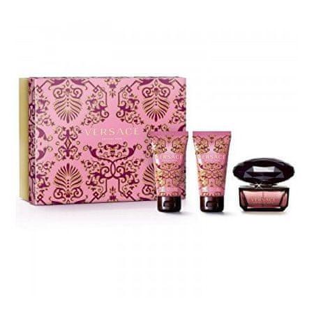 Versace darilni set Crystal Noir - losijon + EDT + gel za tuširanje, 50 ml