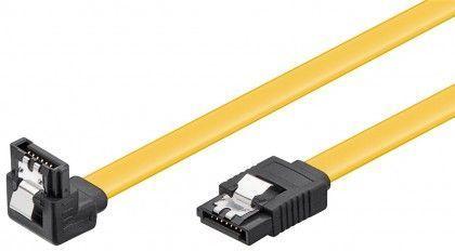 Goobay SATA kabel 6BGlts 1m s kotnim priklopom