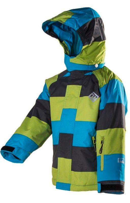 PIDILIDI dětská lyžařská bunda 122 modrá/zelená