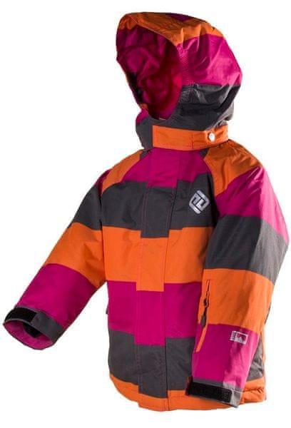 PIDILIDI dětská lyžařská bunda 134 růžová/červená
